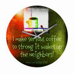 Funny Serious Coffee Quote Frameless Wall Clock
