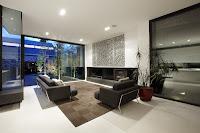 decoración de sala grande moderna