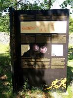 Plafó informatiu al Casol de Puig-castellet