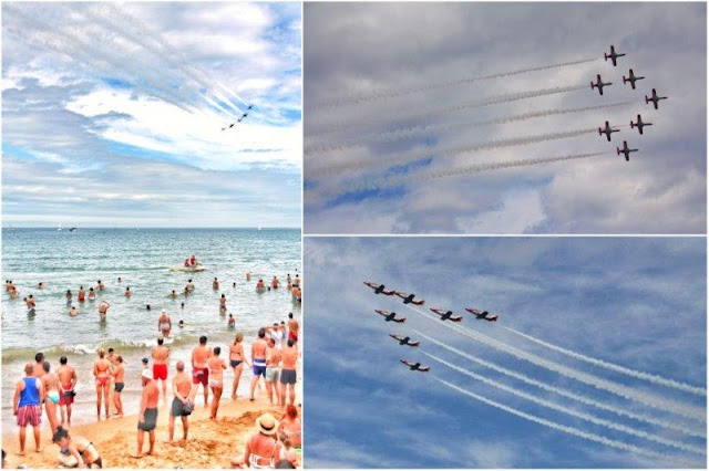 X Festival Aereo de Gijon 2015 – Patrulla Aguila sobre la Playa de San Lorenzo