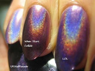 China Glaze When Stars Collide comparison LOL IDK