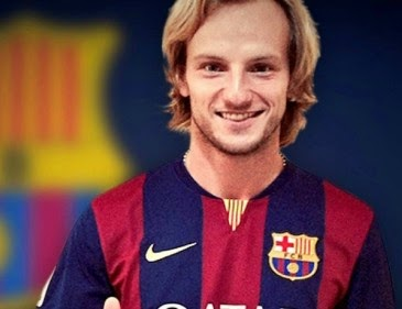 Ivan Rakitic, راكيتيتش المنتقل حديثا من إشبيلية إلى نادي برشلونة القميص رقم 4