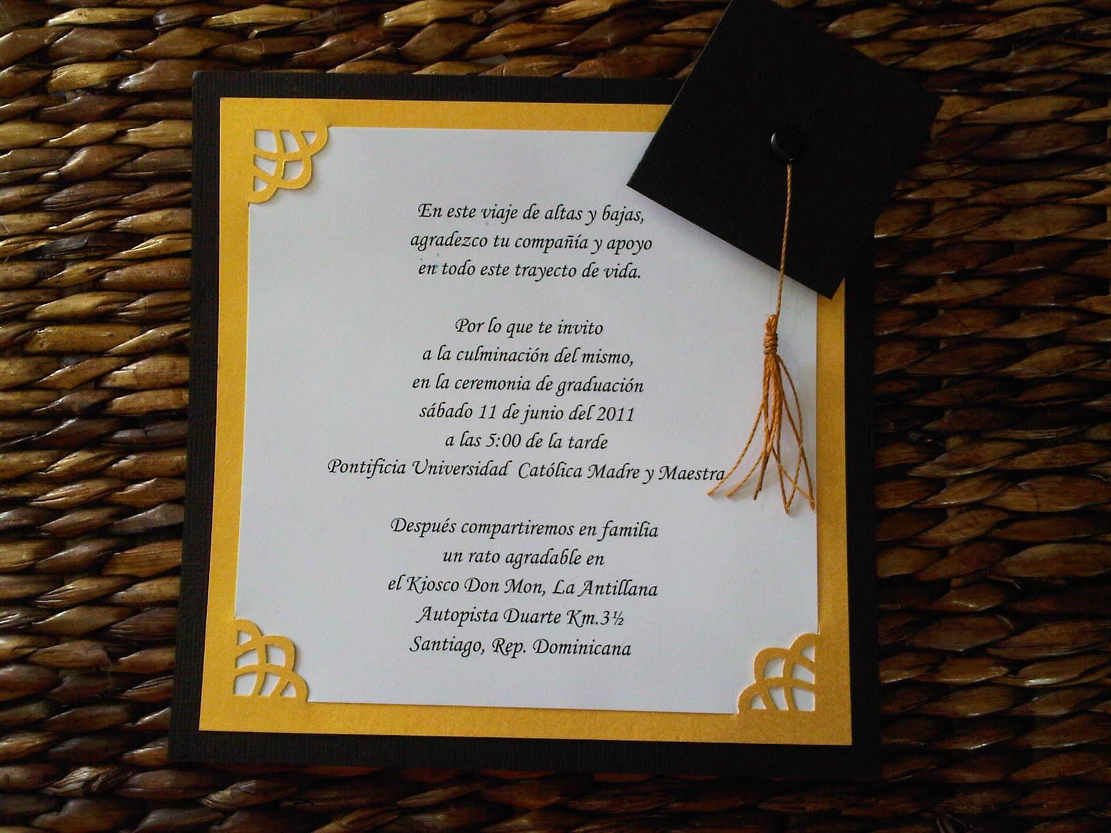 Frases para invitaciónes de graduación de preescolar - Imagui