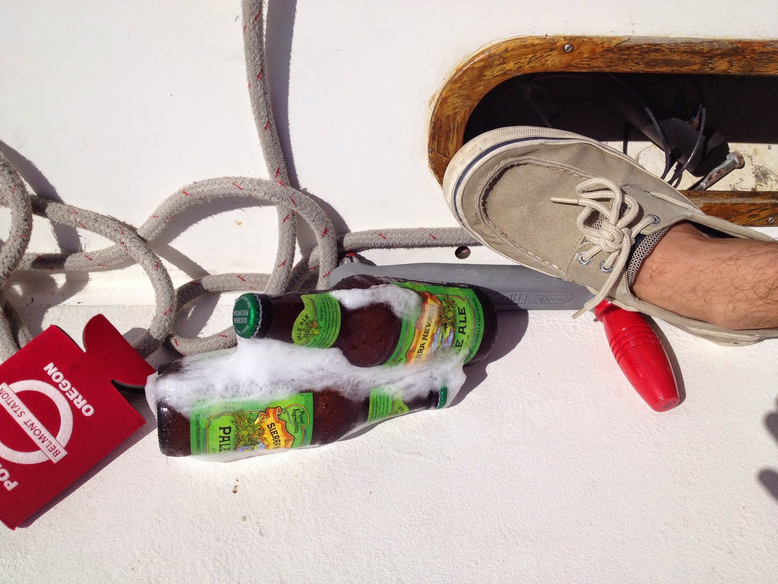 keep beer cold while sailing