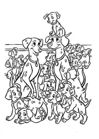 Dalmatian 101 Coloring Pages   Learn To Coloring