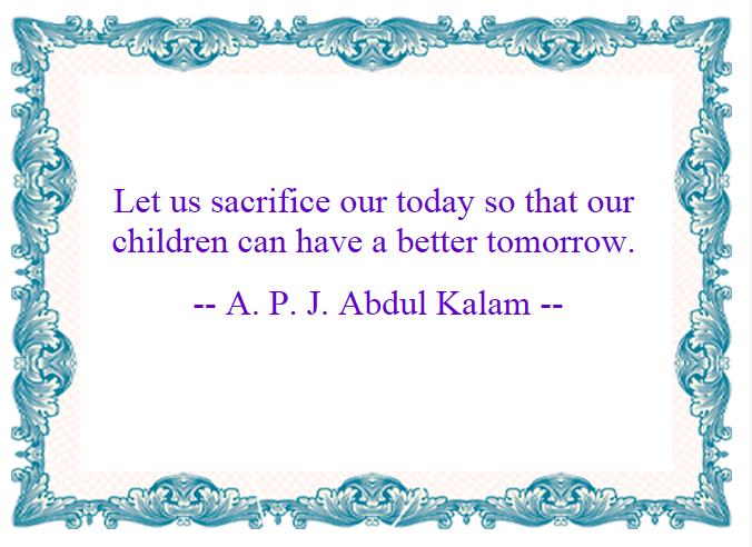 Motivational Quotes : Sacrifice - Kshitij yelkar