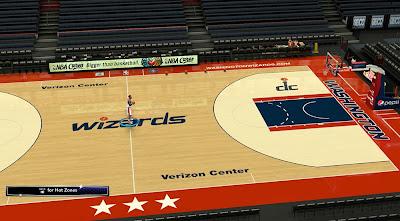 NBA 2K14 Wizards HD Texture Court Mod