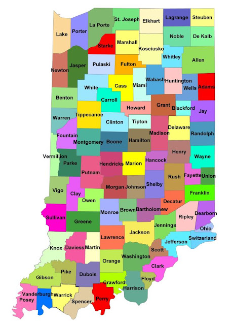 Indiana County Map Area
