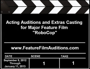 RoboCop Acting Auditions Extras Casting