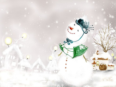 Desktop Christmas Snowman Free wallpaper
