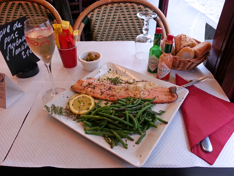 Paris fisk champagne