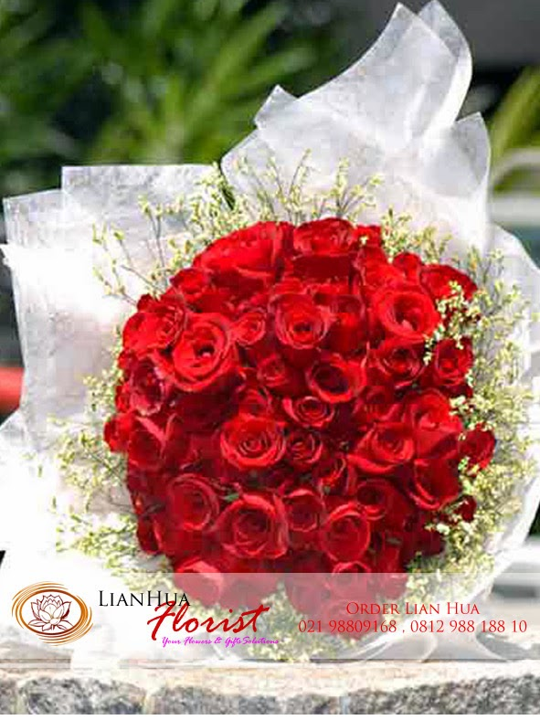 hand bouquets bunga mawar merah, han buket, jual bunga mawar di jakarta,