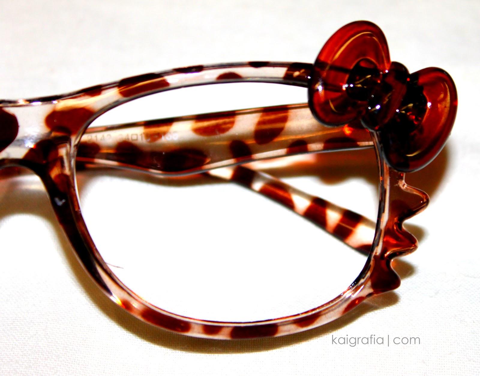 Animal Print Hello Kitty Glasses