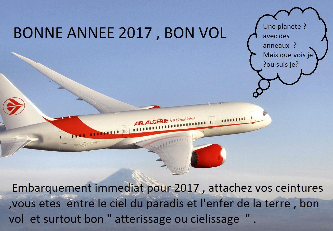 Bon vol vers l'Algérie