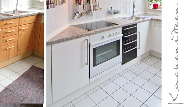 Die schwarzen Hochglanzfronten setzen Akzente in dieser weissen Küche