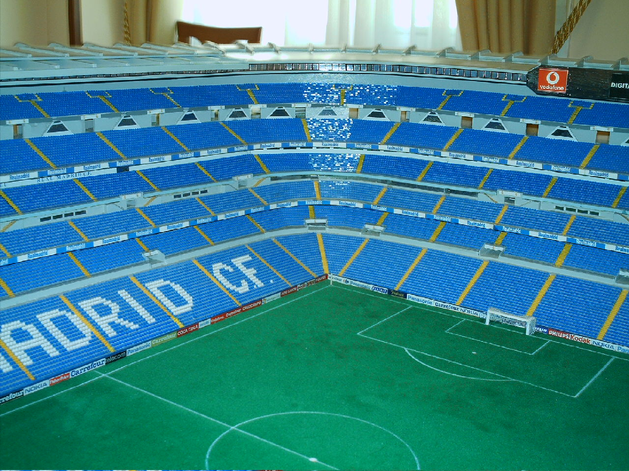 oficial del real madrid la maqueta del estadio una maqueta digna de