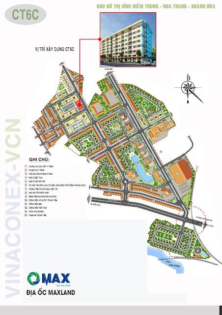 Sơ đồ vị trí địa lý dự án Vĩnh Điềm Trung