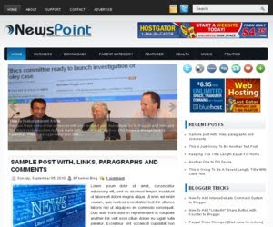 News Point Blogger Template