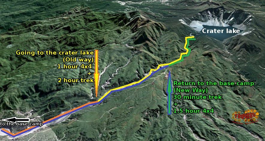 Mount Pinatubo adventure map