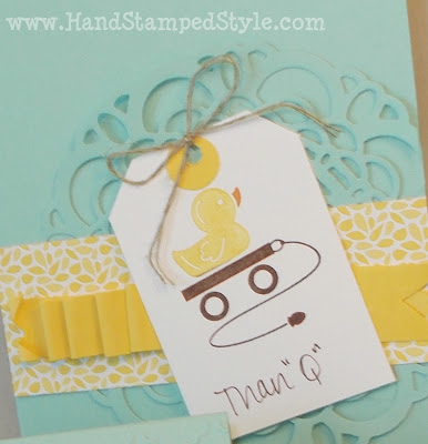 embellished events, duck, baby card, baby shower, thank you