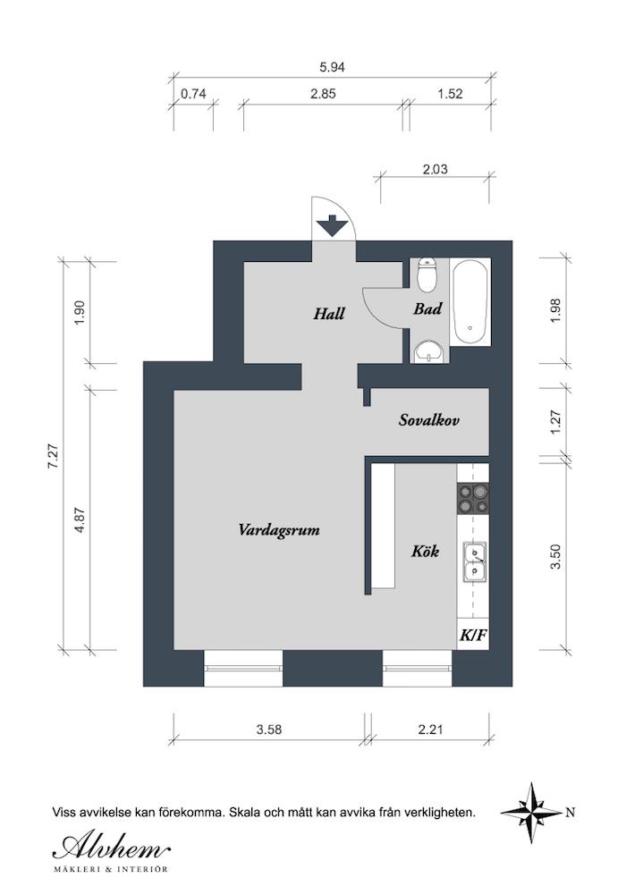 plano pequeño piso con 10 soluciones