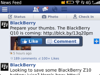 Facebook v4.0.0.13 for BlackBerry