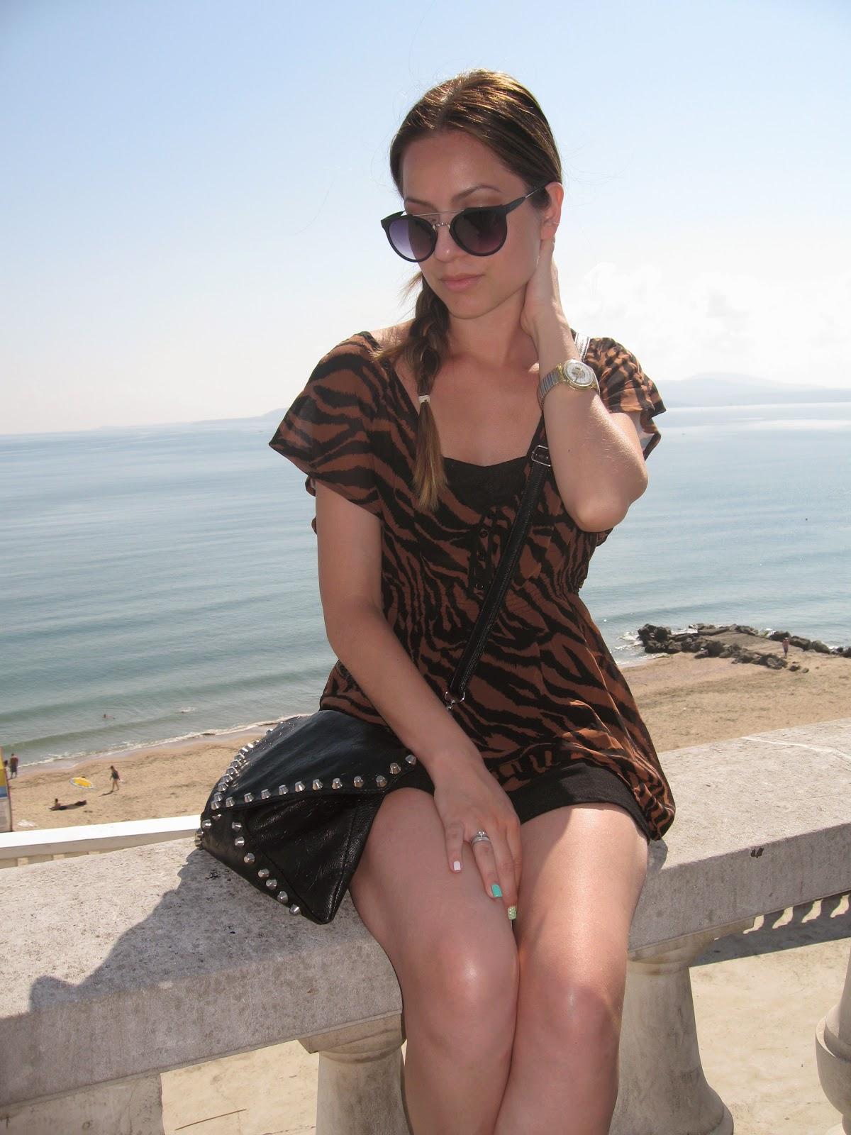 bulgaria vacation 2014, burgas bulgaria, nessebar bulgaria, summer vacation, sunny beach bulgaria, animal print top