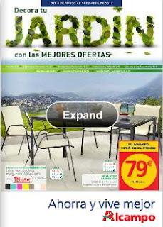 Catalogo alcampo ofertas de jardin marzo abril 2013 for Mobiliario de jardin alcampo