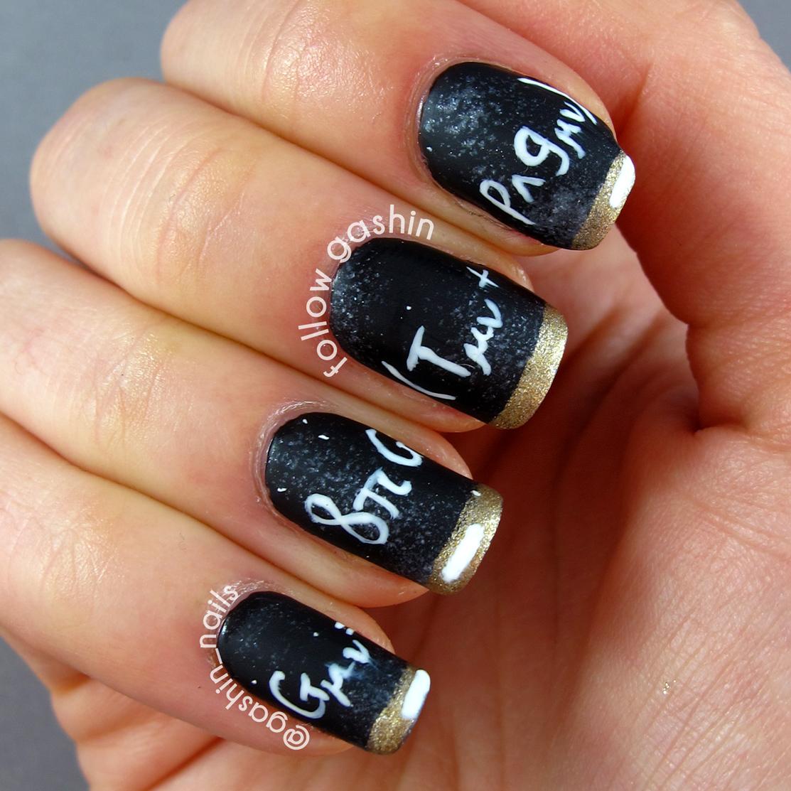 Chalkboard Nail Polish: Follow Gashin: Chalkboard Nails
