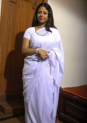 Tollywood Actress Sunakshi in Hot Saree Blouse Stills From Nishabda Viplavam Movie