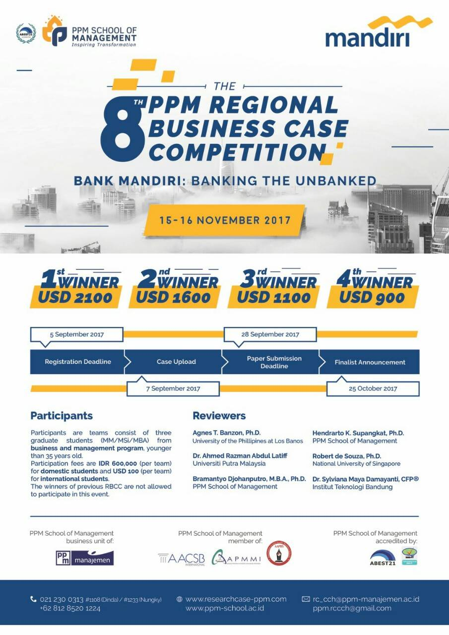 The 8th PPM Regional Business Case Competition 2017