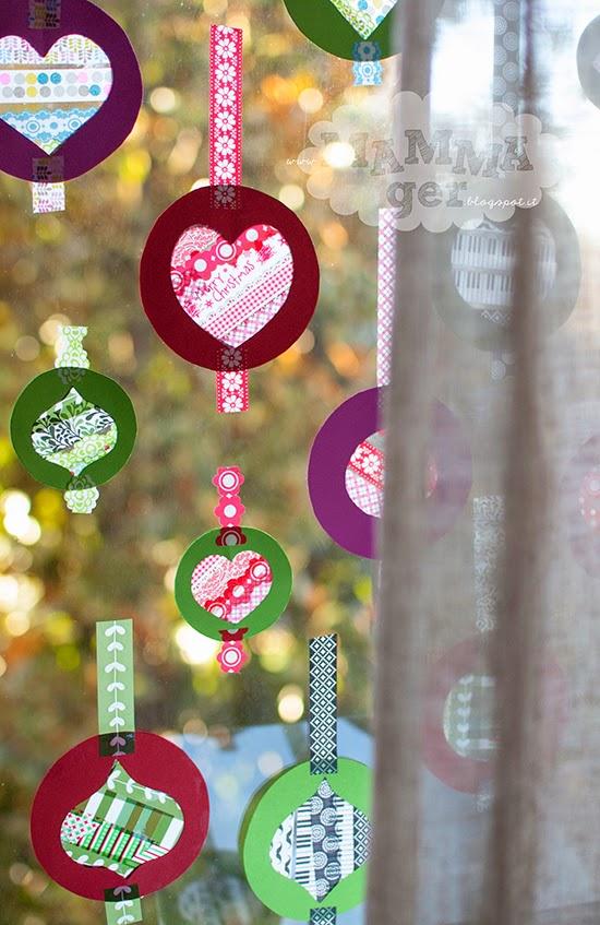 Mammager palline di natale per decorare le finestre - Decorare le finestre per natale ...