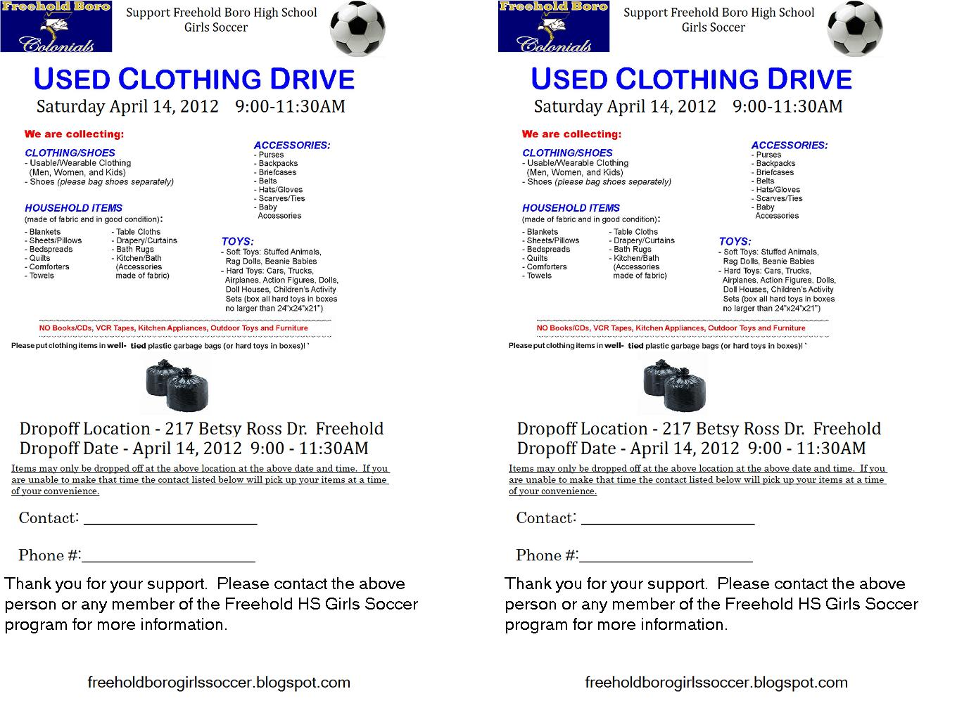 Clothing Drive Flyer Template