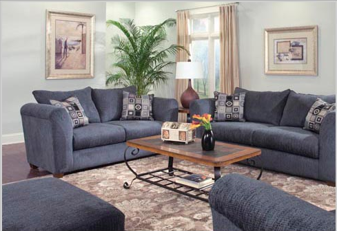 Painting a house blue and gray for your living room - Grey and blue living room ...