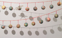 Christmas bauble garland