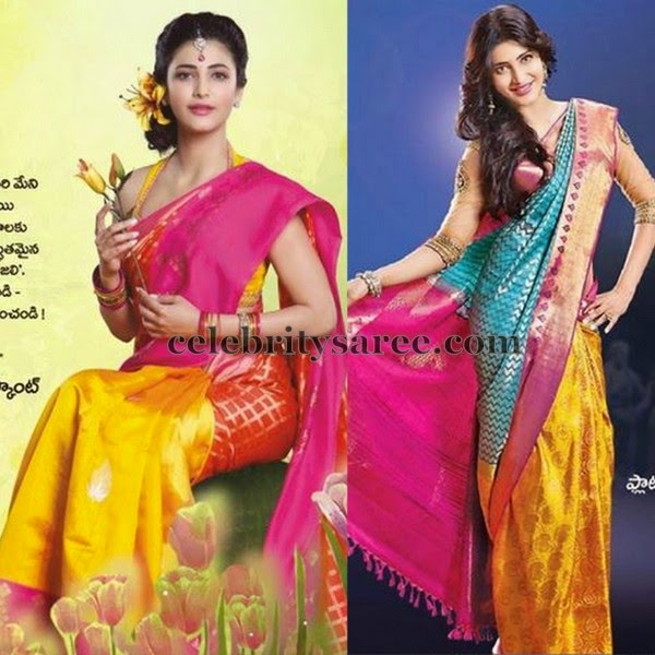 Sruti Hassan Silk Bridal Sari