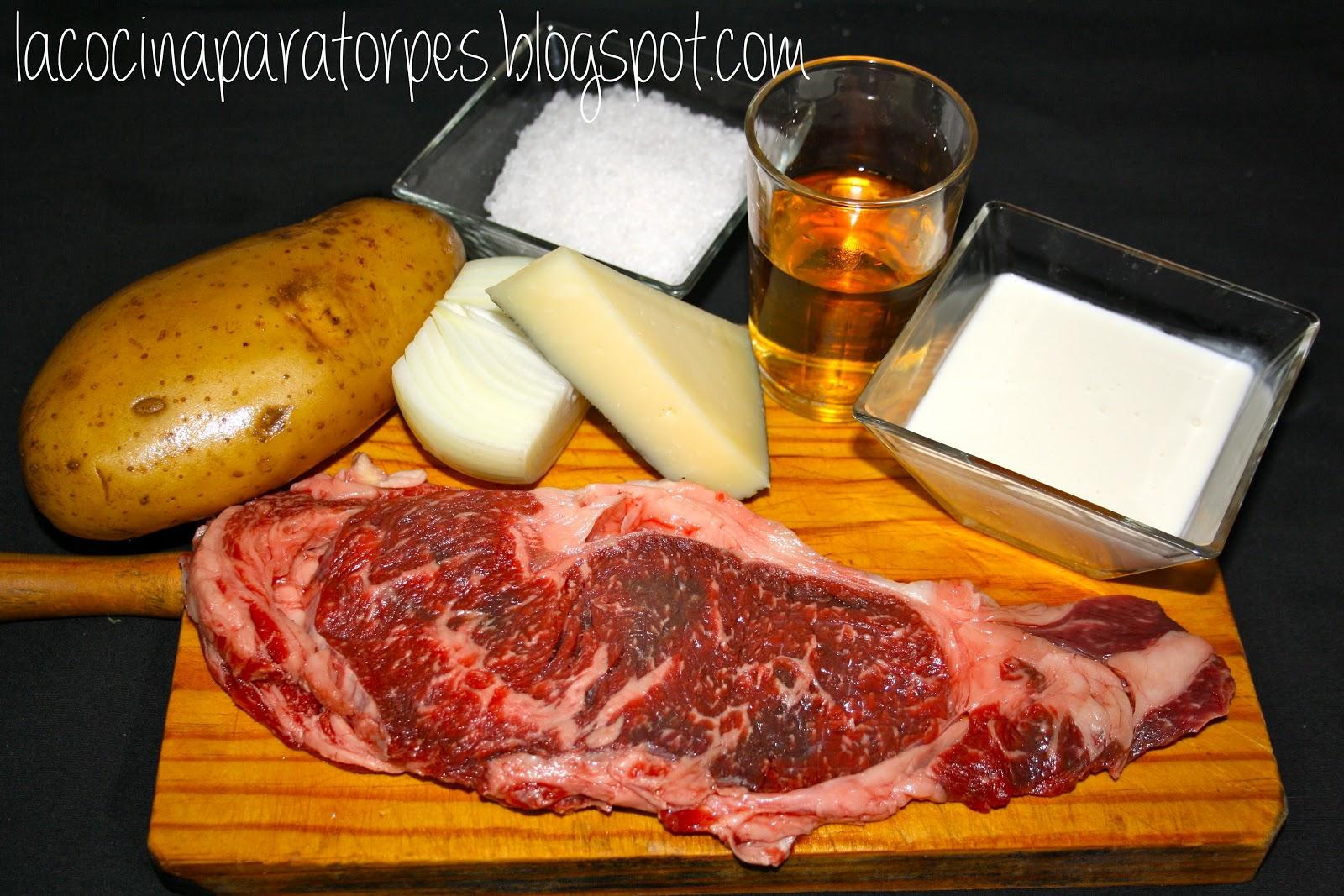 Cocina para torpes receta de entrecot de buey con salsa for Cocinar un entrecot