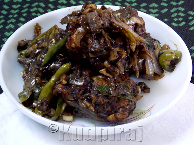 Kudpiraj's Garam Tawa: Chicken Pepper Chilly Fry