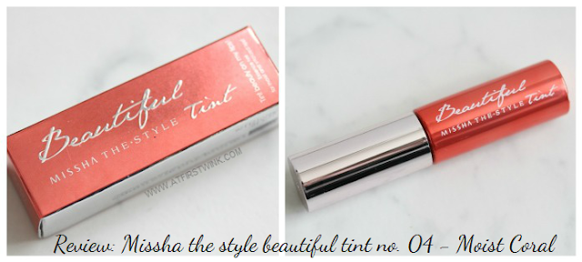 Review: Missha the style beautiful tint no. 04 - Moist Coral