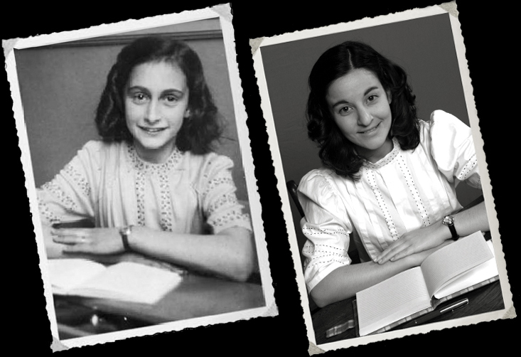 For a publicity still we recreated a famous photo of the real Anne Frank  taken before she went into hiding  A Galant Storyteller