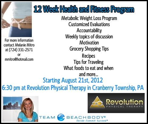 Introducing Brand New 12 Week Health And Fitness Program Melanie Mitro