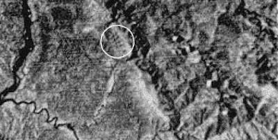 Foto delle piramidi scattata dal satellite Landsat 2