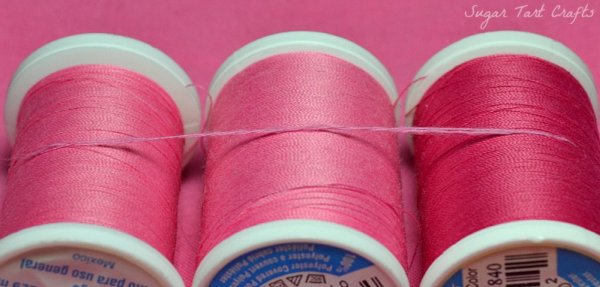 Matching pink thread to fabric