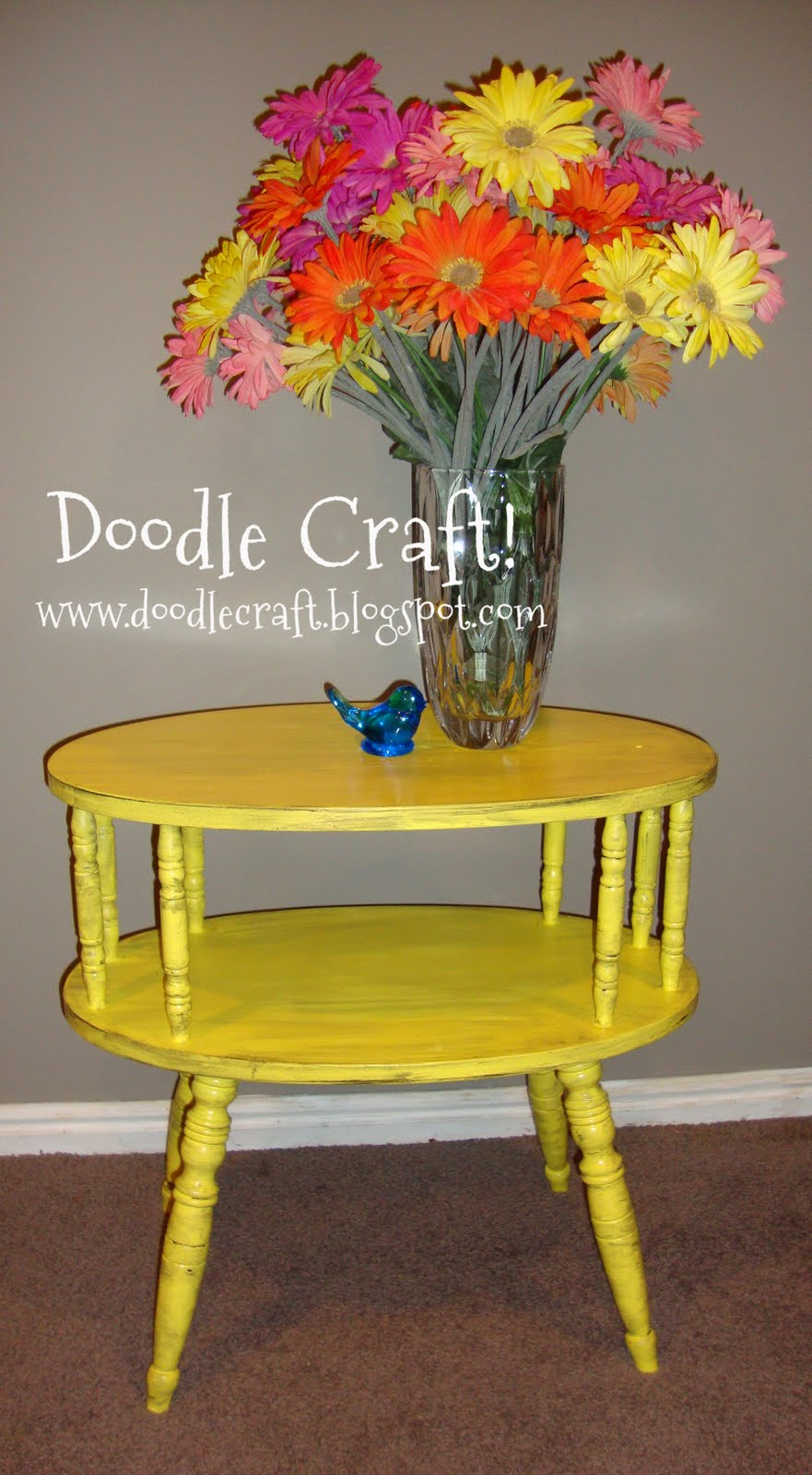 Doodlecraft yellow side table for Bright colored side tables