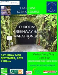 West Waterford Greenway Half-Marathon - Sat 14th Sept 2019
