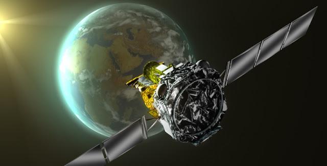 Artist's impression of ESA's Integral gamma-ray observatory. Credit: ESA