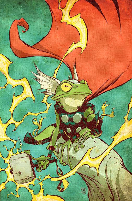 Pet Avengers: Thor Frog por skottieyoung