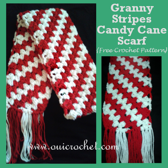 Granny Stripes Candy Cane Scarf
