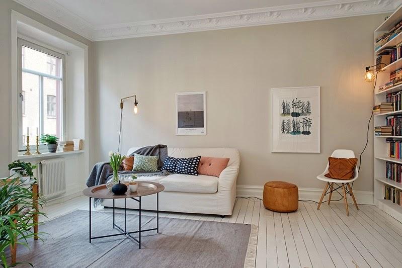 apartamento sueco neutro y luminoso