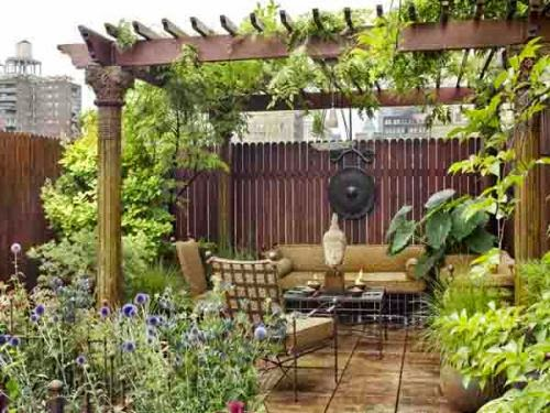 decorate the terrace with trees, artworks | Manufacturers Outdoor Furniture